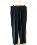 H BEAUTY&YOUTH()の古着「DOUBLE CLOTH TUCK PANTS」|グリーン