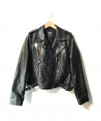 ZARA(ザラ)の古着「エコレザーダブルライダースジャケット」|ブラック