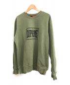 SUPREME(シュプリーム)の古着「Warm Up Crewneck Sweater」 グリーン