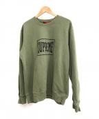 SUPREME()の古着「Warm Up Crewneck Sweater」|グリーン