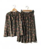 Lois CRAYON(ロイスクレヨン)の古着「セットアップブラウス」|ブラウン