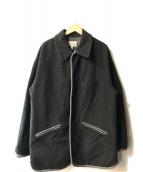 ARMANI JEANS(アルマーニジーンズ)の古着「メルトンコート」|チャコールグレー