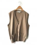 JOHN SMEDLEY(ジョンスメドレー)の古着「ニットベスト」|ブラウン