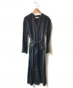 sara mallika()の古着「ベルト付ブラウスワンピース」|ブラック
