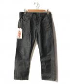 FULLCOUNT(フルカウント)の古着「テーパードデニムパンツ」 ブラック