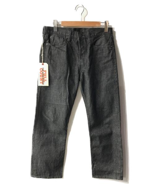 FULLCOUNT(フルカウント)FULLCOUNT (フルカウント) テーパードデニムパンツ ブラック サイズ:W31の古着・服飾アイテム