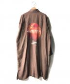 SHAREEF(シャリーフ)の古着「別注ロングシャツコート」 ブラウン