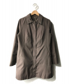 LAUTRE AMONT(ロートレアモン)の古着「ダウンライナー付ステンカラーコート」|ブラウン