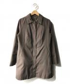 LAUTRE AMONT(ロートレアモン)の古着「ダウンライナー付ステンカラーコート」 ブラウン