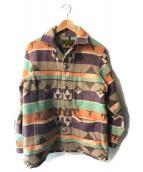 ()の古着「ネイティブ柄コンチョボタンジャケット」 マルチカラー