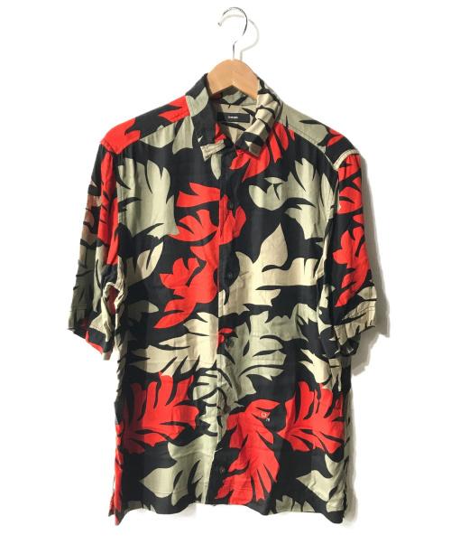 DIESEL(ディーゼル)DIESEL (ディーゼル) アロハシャツ ブラック サイズ:Mの古着・服飾アイテム