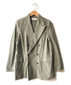 ()の古着「コットンダンプダブルジャケット」|グレー