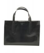 PRADA(プラダ)の古着「エナメルトートバッグ」|ブラック