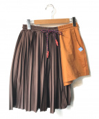 Maison MIHARA YASUHIRO(メゾン ミハラヤスヒロ)の古着「プリーツドレープショートパンツ」|ブラウン