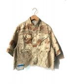Maison MIHARA YASUHIRO(メゾン ミハラヤスヒロ)の古着「レースパネル ミリタリー ジャケット」|カーキ