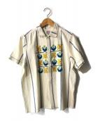 ()の古着「フラワーエンブロイダリーS/Sシャツ」 ホワイト