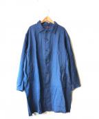GAIJIN MADE(ガイジンメイド)の古着「リネンショップコート」|ネイビー