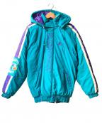STARTER()の古着「90'sバック刺繍HORNETSパフジャケット」 スカイブルー