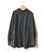 TOGA(トーガ)の古着「SATIN JERSEY PULLOVER」|ブラック