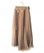 Mila Owen(ミラオーウェン)の古着「タック風プリーツスカート」|ベージュ