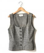 Christian Dior()の古着「【OLD】オールドチェックベスト」 ホワイト×ブラック