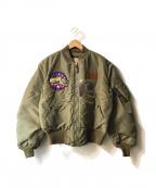 Buzz Ricksons()の古着「B-15Cフライトジャケット」|セージグリーン