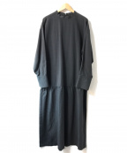 PLAIN PEOPLE(プレインピープル)の古着「ペプラムワンピース」|グレー