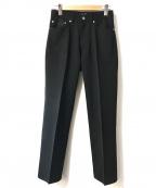 agnes b homme(アニエスベーオム)の古着「センタープレスパンツ」 ブラック