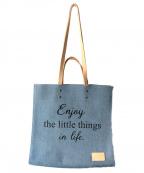 Samantha Thavasa PETIT CHOICE(サマンサタバサプチチョイス)の古着「デニムトートバッグ」|ブルー