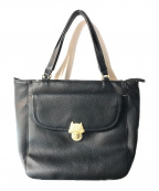 tsumori chisato(ツモリチサト)の古着「フラップカリネコレザーバッグ」|ブラック
