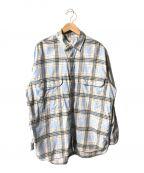 LEVI'S()の古着「チェックシャツ」 スカイブルー
