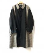 UNITED TOKYO()の古着「撥水woolリバースバルカラコート」|ブラック×ベージュ