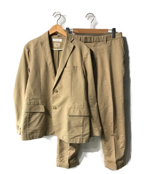 BEAUTY&YOUTH(ビューティアンドユース)BEAUTY&YOUTH (ビューティアンドユース) セットアップヘリンボーンスーツ ベージュ サイズ:Mの古着・服飾アイテム