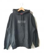 SUPREME()の古着「KAWS Chalk Logo Hooded Sweatsh」 ブラック