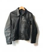 Schott()の古着「シングルライダースジャケット」 ブラック