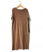 Demi-Luxe Beams()の古着「フロントフラッフィワンピース」|ブラウン