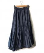 ne quittez pas(ヌキテパ)の古着「コットンボイルロングスカート」|ネイビー