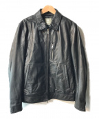 nano&co(ナノアンドコー)の古着「ラムレザージャケット」 ブラック
