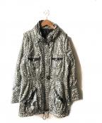 伊太利屋(イタリヤ)の古着「レオパード中綿ジャケット」|ブラック