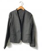 INED()の古着「リネン混ストレッチテーラードジャケット」|チャコールグレー