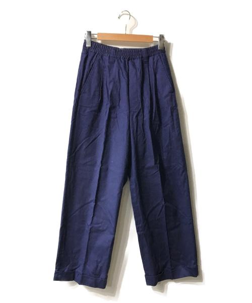 MAISON SPECIAL(メゾンスペシャル)MAISON SPECIAL (メゾンスペシャル) カツラギウエストゴムワイドパンツ ネイビー サイズ:44の古着・服飾アイテム