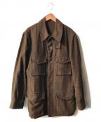 BROWN by 2-tacs(ブラウンバイツータックス)の古着「リネンラミーM-65ジャケット」 ブラウン