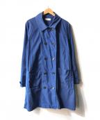 ordinary fits()の古着「ダブルショップコート」|ブルー