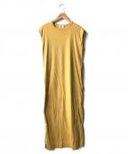 Demi-Luxe Beams(デミルクス ビームス)の古着「サイドスリットノースリーブワンピース」 マスタード