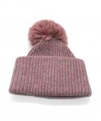 Acne studios(アクネストゥディオズ)の古着「ポンポン付ニット帽」 ピンク