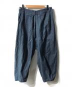 KANATA(カナタ)の古着「アシメワイドデニムパンツ」 インディゴ