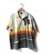 X-LARGE(エクストララージ)の古着「総柄S/Sシャツ」|ブルー×ブラック