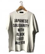 HUMAN MADE(ヒューマンメイド)の古着「BLACK LIVES MATTER TEE」|ホワイト