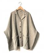Samansa Mos2(サマンサモスモス)の古着「リネン混オーバージャケット」|ブラウン