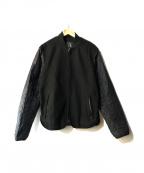 ARMANI EXCHANGE(アルマーニエクスチェンジ)の古着「キルティングスリーブメルトンジャケット」 ブラック×ネイビー